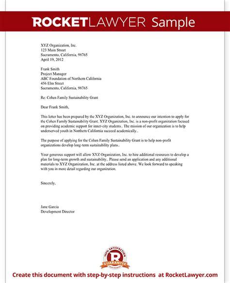 letter  intent  grant   profit template