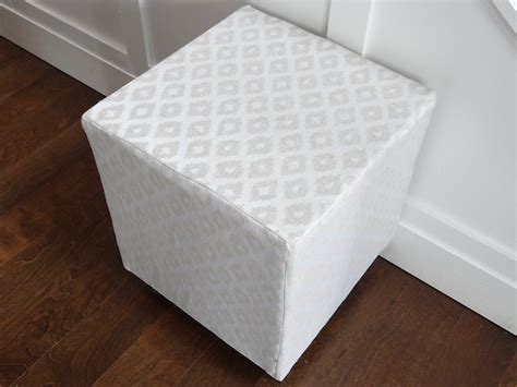 how to upholster an ottoman remodelaholic ballard designs inspired upholstered cube