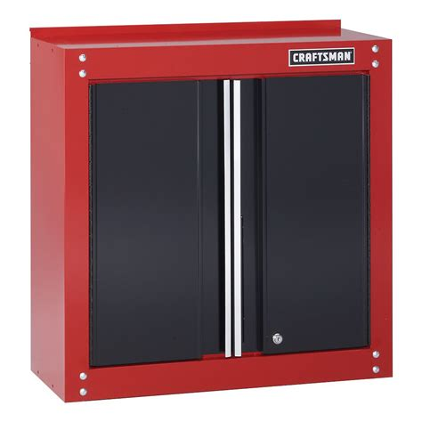 metal wall storage cabinets craftsman 28 quot wide wall cabinet red black