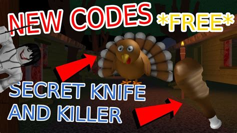 Code success, you received the clover carver knife; Free download New Survive The Killer Codes Roblox Latest Update November 2020
