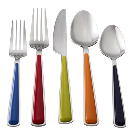 flatware sets table steel dining colorful spoon fork elegance homesfeed bringing plus
