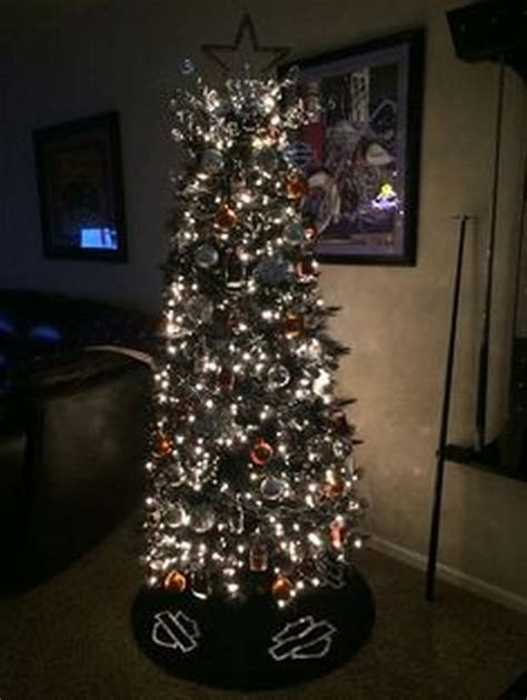 gorgeous harley davidson themed christmas trees biker
