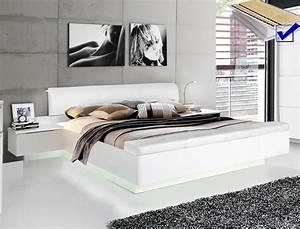 Modernes Bett 180x200 : doppelbett sophie 1 wei 180x200 ehebett beleuchtung rost matratze wohnbereiche schlafzimmer ~ Watch28wear.com Haus und Dekorationen