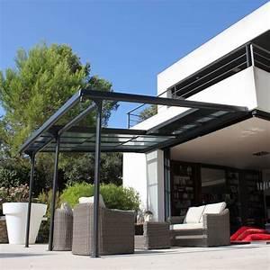 Pergola Toit Coulissant : tonnelle adoss e aluminium toit polycarbonate 4x3 5m azura colis tonnelle 346 x 52 x 27 cm ~ Melissatoandfro.com Idées de Décoration