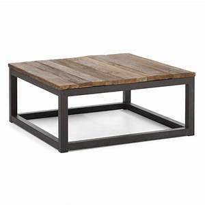 zuo modern contemporary civic center distressed natural With natural wood square coffee table