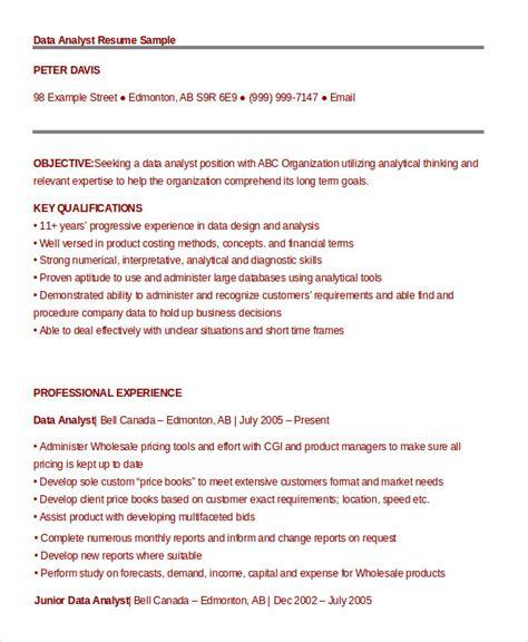 data analyst resume exle 9 free word pdf documents