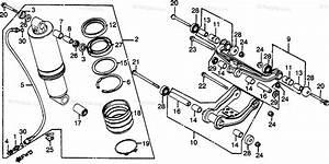 Honda Motorcycle 1982 Oem Parts Diagram For Rear Shock Absorber