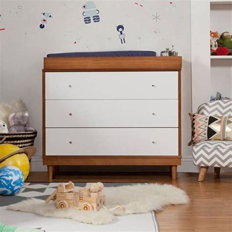 Babyletto Skip Changer Dresser Chestnut And White by 10 Modern Furniture Pieces For Baby S Room
