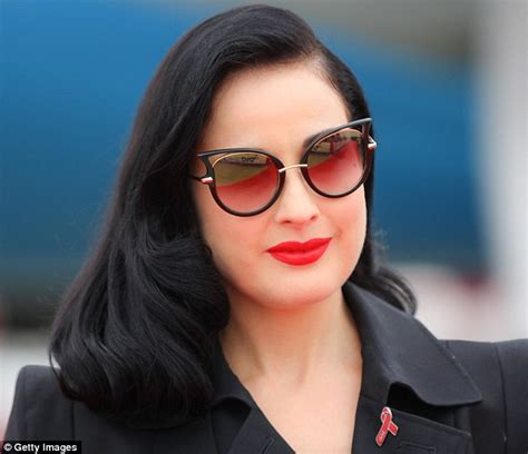 dita von teese eyewear dita von teese shows off her hourglass figure ahead of
