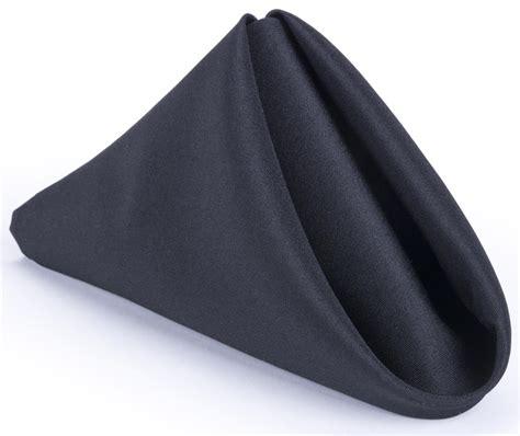 Schwarze Servietten by Black Cloth Napkin 17 Inch Square