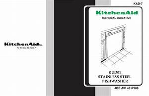 Download Free Pdf For Kitchenaid Kuds01ij Dishwasher Manual