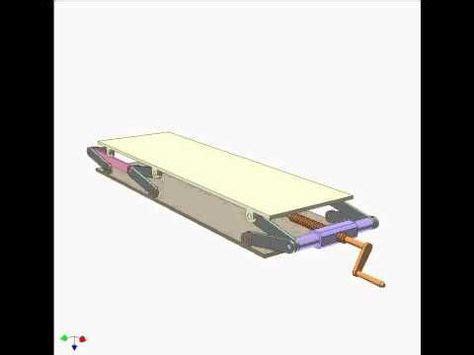 double parallelogram mechanism  youtube scissor lift