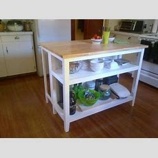 For Living Kitchen Island With Folding Leaf  Household