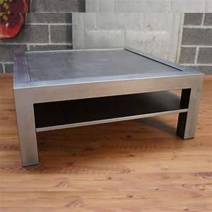Table Salon Metal : table basse metal table basse design table basse industrielle ~ Teatrodelosmanantiales.com Idées de Décoration