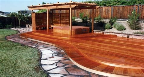 curved redwood deck buy redwood