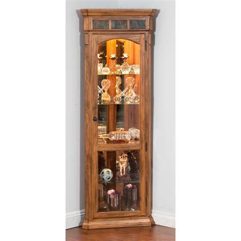 rustic curio cabinets designs sedona corner curio cabinet rustic oak