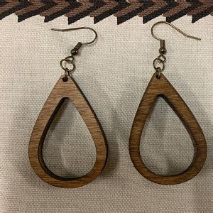 bulk pc  pc unfinished wood laser cutout hoop hoops