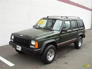 1996 Moss Green Pearl Jeep Cherokee Sport  18642954