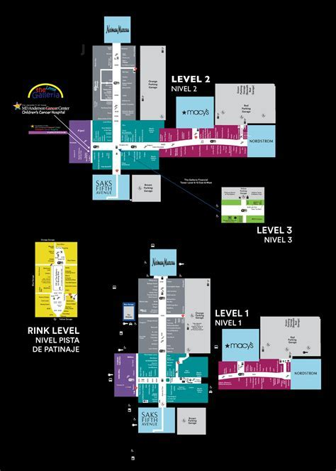 Mall Map of The Galleria®, a Simon Mall   Houston, TX