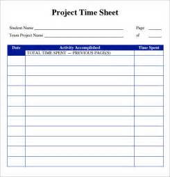 Excel Accounting Templates Sle Project Timesheet 6 Exles Format