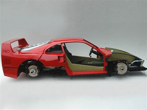 Extremely Detailed Ferrari F40 Model Car Build 30+ Pics