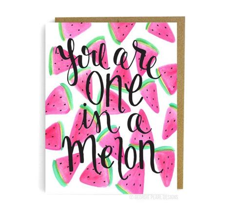 youre    melon friendship card
