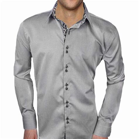 mens designer dress shirts grey with black dress shirts
