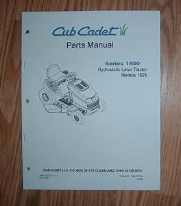 Cub Cadet 1525 Parts Manual With Diagrams