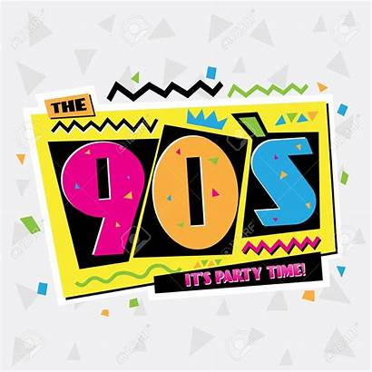 90 Party 1990 Vector Background 90s Illustration