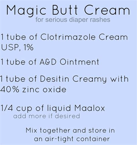 Magic Butt Cream Recipe For Serious Diaper Rash This Will