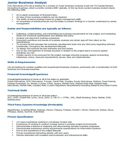 Junior Business Analyst Resume by It Infrastructure Manager Resume