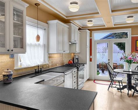 granite design pictures remodel decor  ideas absolute black granite     flamed leathered honed finish kitchen remodel
