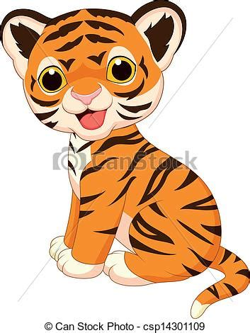 cute baby tiger clipart clipart panda  clipart images