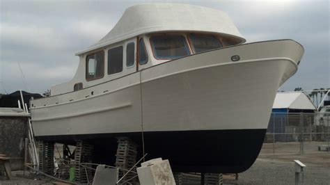 Universal 40' Feet Trawler  Fiberglass Hull Twin Ford