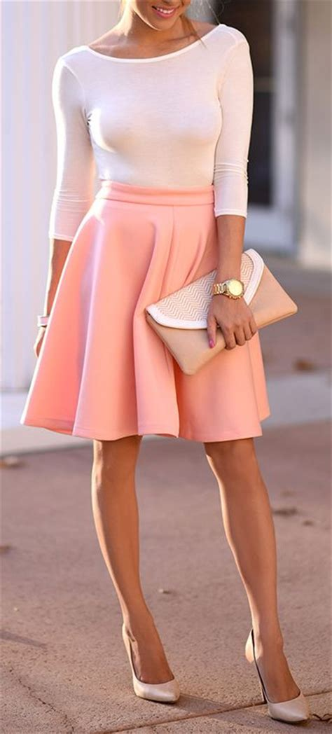 17 Best ideas about Pink Skirt Outfits on Pinterest | Stripe blazer Long skirts with tops and ...