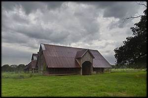 two of the oldest barns in the area still being used the With barn builders in east texas