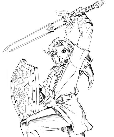 Coloriage 13 Dessin Zelda The Legend Of Zelda