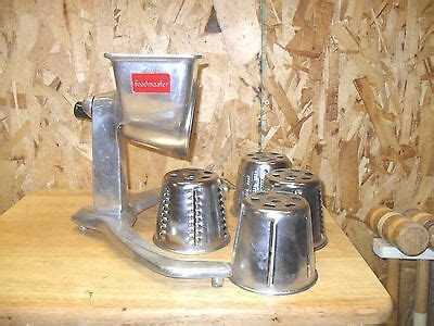 Kitchen Master Rotary by Vintage Saladmaster Grater Slicer Shredder With 5 Cones