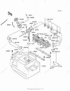 Kawasaki Jet Ski 2000 Oem Parts Diagram For Fuel Tank