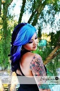 Neon blue to purple