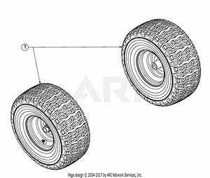 Troy Bilt 13wn77bs011 Pony  2017  Parts Diagram For Wheels