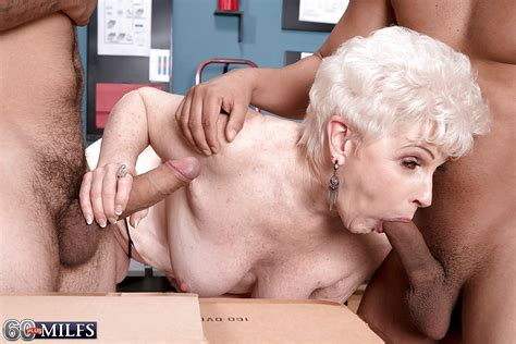 60 Plus Blonde Granny Gives Big Cocks Blowjobs In Office
