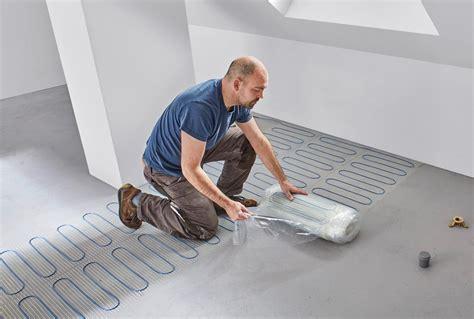 Platten Für Fussbodenheizung by Selbstklebende Elektro Fu 223 Bodenheizung F 252 R Nass Und