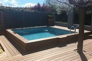 Piscine En Kit Enterrée : piscine semi enterr e bois pas cher terrasse piscine lepatiodessenteurs ~ Melissatoandfro.com Idées de Décoration