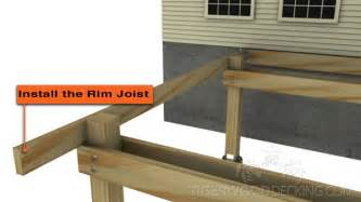how to attach joists rim joists tigerwood decking