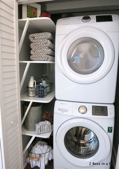 small space solution laundry closet makeover hometalk