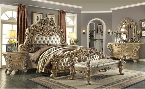 Dining Room Sets With Bench - hd 7012 homey design bedroom set victorian european classic style