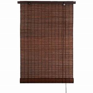 store enrouleur bois tisse chataigne h 180 cm castorama With store bois tisse exterieur