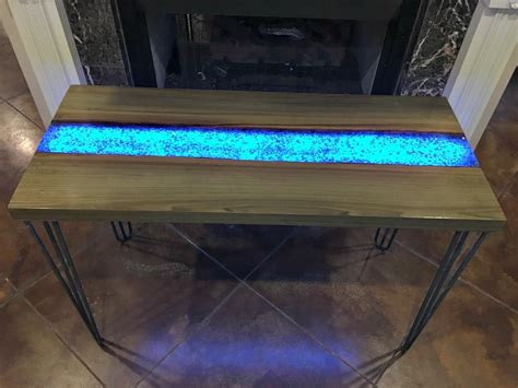 This Live Edge River Table Glows In The Dark Adding Life