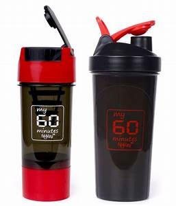 Foolzy My 60 Minutes Workout Gym Shaker Bottle Cup 700ml   500ml Pack Of 2  Buy Foolzy My 60